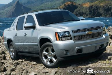 Insurance rates Chevy Avalanche in Pittsburgh