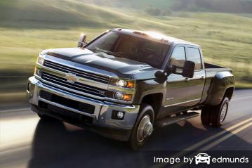 Insurance rates Chevy Silverado 3500HD in Pittsburgh