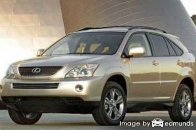 Insurance rates Lexus RX 400h in Pittsburgh